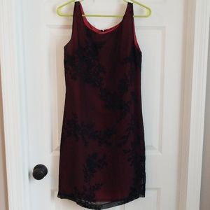 Express Black and red dress